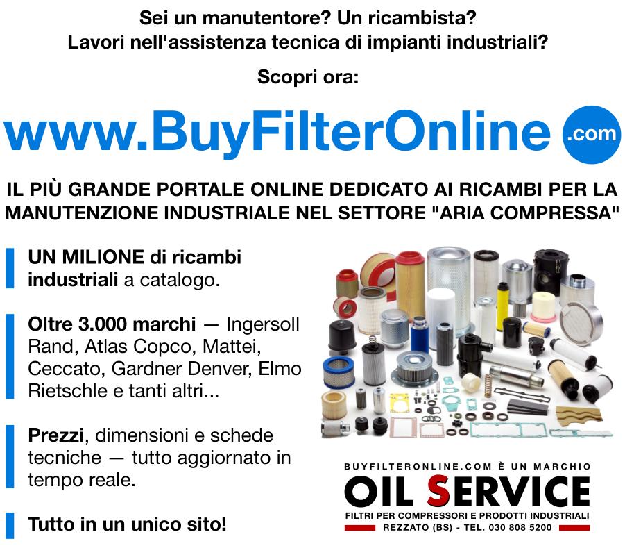 Scopri anche Buyfilteronline.com - Il più grande portale al mondo dedicato ai ricambi per compressori e pompe vuoto